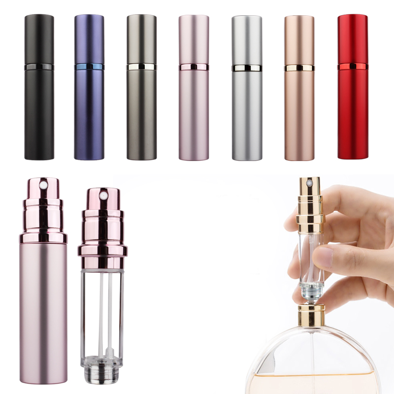 5ml  Refillable Mini Perfume Spray Bottle Aluminum Spray Atomizer Portable Travel Cosmetic Container Perfume Bottle