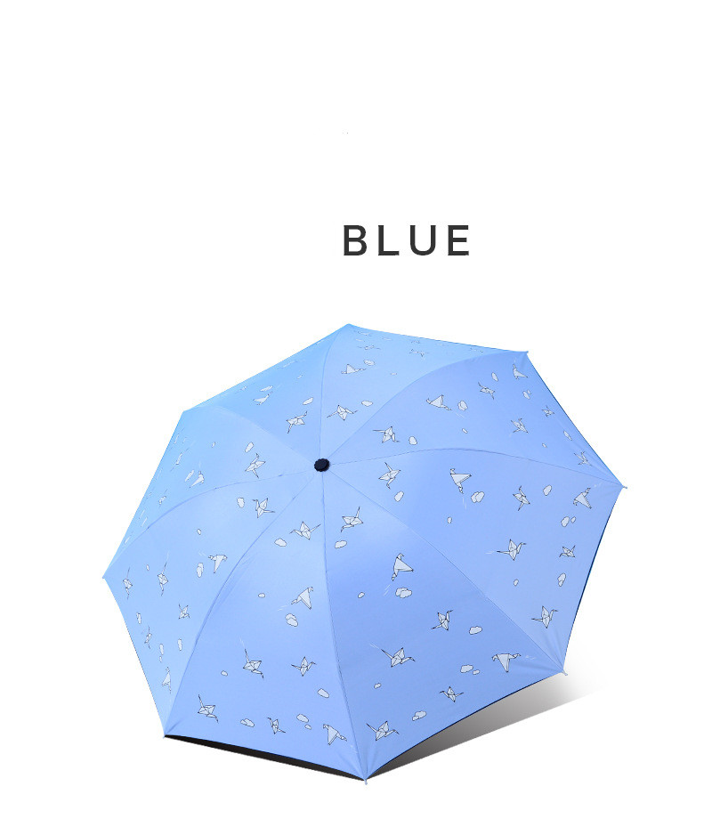 8 Bones Umbrella For Protect Against Wind And Rain Clear 3 Fold Umbrella Clear Rain and Sun Umbrellas For Women