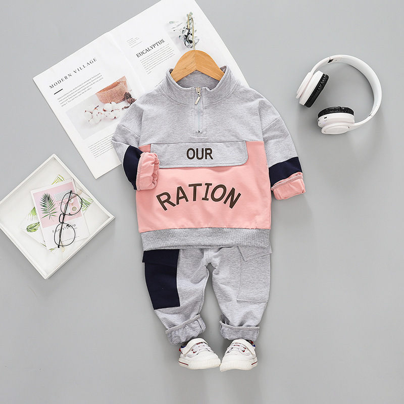 Printemps nouveau bébé enfant en bas âge enfants vêtements ensemble lettre pull enfants garçons vêtements Costume 2 pièces à manches longues enfants vêtements ensembles tenue