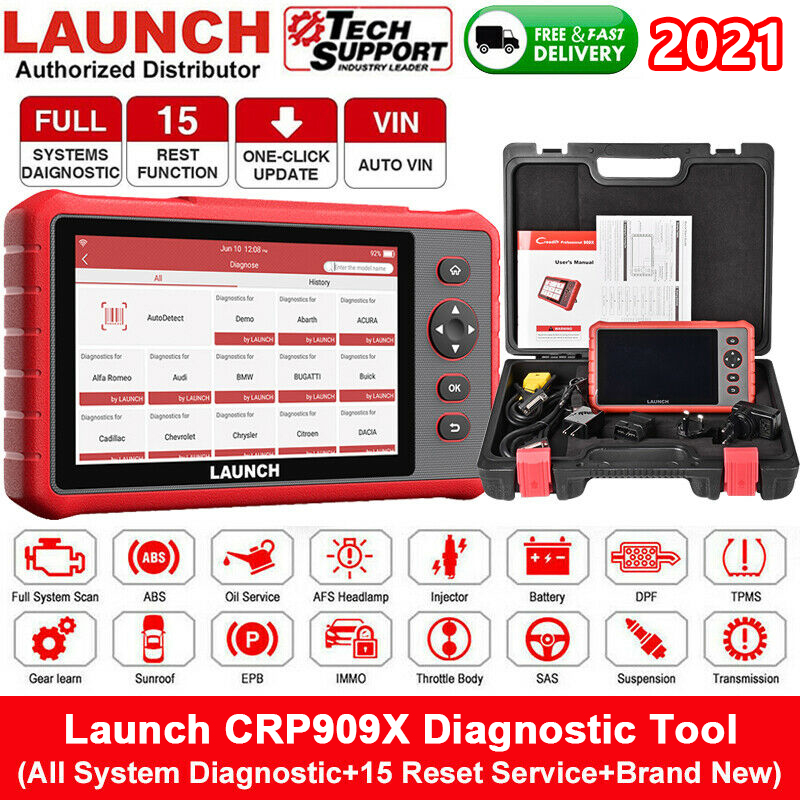LAUNCH CRP909X OBD2 Scanner All Full System ECU DPF TPMS Car Diagnostic Tool Automotive Professional Auto Scanner