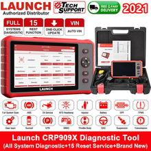 LAUNCH – CRP909X Scanner automobile professionnel, outil de Diagnostic de voiture, OBD2, ECU, DPF, TPMS, système complet