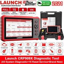 Lançamento crp909x obd2 scanner todo o sistema completo ecu dpf tpms ferramenta de diagnóstico do carro automotivo profissional scanner automático