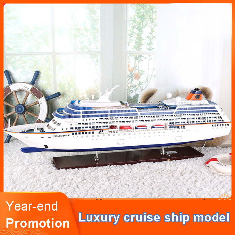 Large Luxury Cruise Ship Model Ship Ornaments Columbus Decorations Ship Simulation Craft Gift Children's Birthday Gift