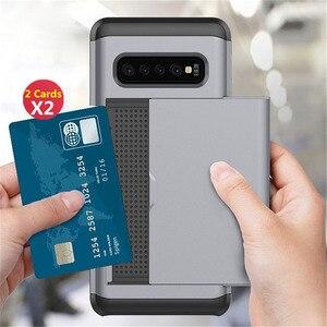 Image 2 - スライドカバー財布カードスロット三星銀河S10 プラスS20 S9 S8 注 20 超 10 プラス 5 グラム 9 8 S10e S7 S6 エッジプラスfunda
