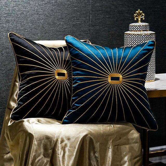 Роскошная наволочка из шенилла с золотистыми окантовками и кисточками, темно зеленая наволочка для дивана с принтом лошадей, наволочка для подушки