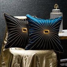 Luxury chenille เชือกทองขอบพู่จี้ปลอกหมอน dark สีเขียวม้าอานพิมพ์โซฟาเบาะครอบคลุมหมอน