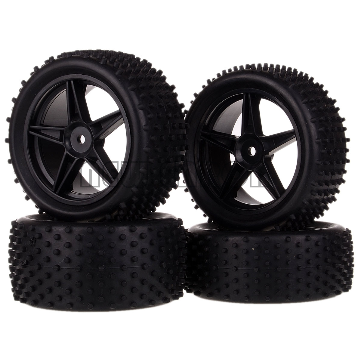 NEW ENRON  4PCS Front+Rear Wheel Rim Tire Tyre 06010 06026 For RC 1/10 Off Road Buggy HSP 94107 RedCat