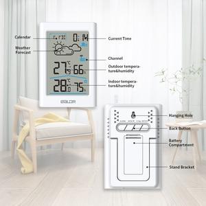 Image 3 - Weather Station Digital Thermometer Hygrometer Wireless Sensor Forecast Temperature Watch Wall Desk Alarm Clock