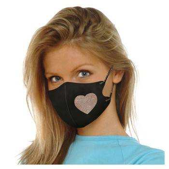 Masks For Adults Adults Peach Heart Reusable Sequins Ice Silk Cotton Face Mask Summer Breathable Dustproof Outdoor Masks Cycling