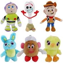 15cm juguete historia 4 de Woody Buzz Lightyear Forky Ducky Bunny la Sra. Patata cabeza de peluche colgantes llavero