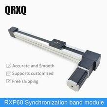 RXP60 100~3000mm Synchronization Belt Linear Module Guide Motion Rail Motorized Slide Table Actuator For CNC Linear Position Kit