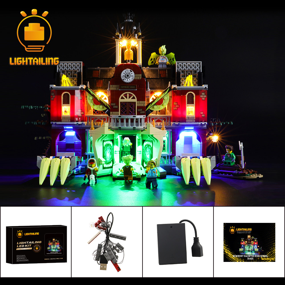 LIGHTAILING LED Light Kit For Newbury Haunted High School Toy Building Blocks Lighting Set Compatible With 70425
