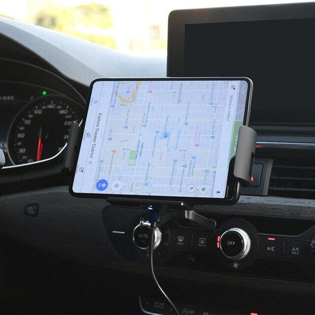 Qi voiture chargeur sans fil 10W Auto serrage support de téléphone pour Samsung Galaxy pli Fold2 S10 iPhone XS 11 Max Xiaomi Huawei Mate X