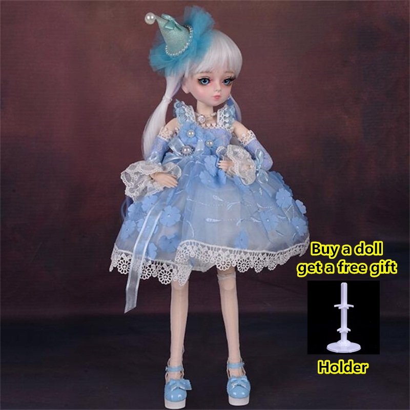 18 Movable Joints BJD Doll 1/4 With Full Outfits Wigs Shoes official Makeup Ball Jointed Dolls collection kids toys Christmas gi 16