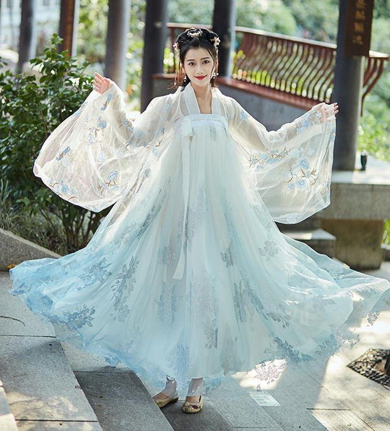 Chinese Hanfu Women Classical Dance Costume Folk Festival Outfit Stage Rave Performance Hanfu Chinese Cosplay Fairy Hanfu Dress