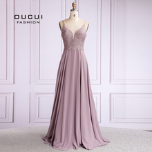 Официальное женское вечернее платье, платье для вечеринки размера плюс, Длинные вечерние платья с аппликацией, элегантное праздничное платье OL103571