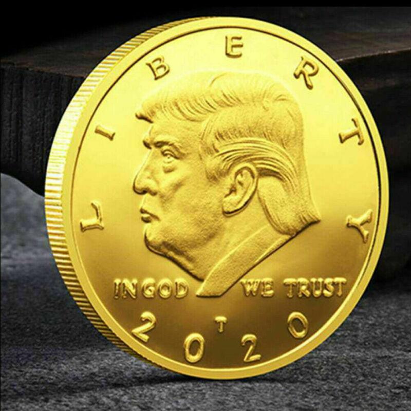 100Pcs Donald Trump 2020 Keep America Great Commemorative Challenge Eagle Coin E