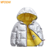 VFOCHI New Boy Girl Down Coats Kids Winter Jacket Parka Children Waterproof Snowsuit Unisex Thick Hoodie Outwear