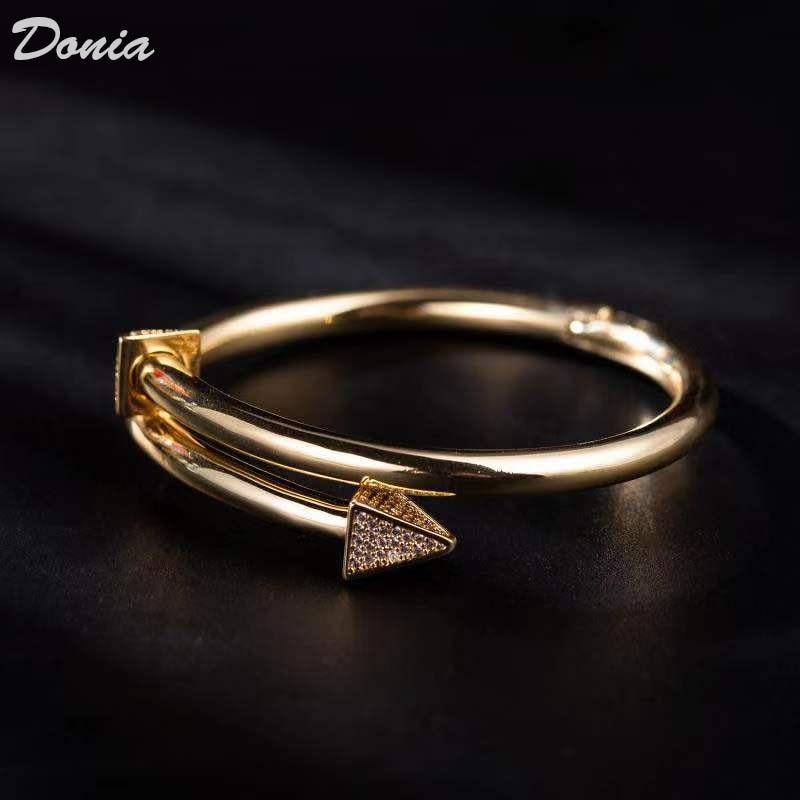 Image 2 - Ювелирные изделия donia Европейская и американская мода новый  женский браслет из розового золота AAA циркон браслет Модный Открытый  браслетЮвелирные наборы
