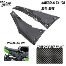 High quality Carbon Fiber ABS Motorcycle Side Fairing Protection Hood Guard For Kawasaki Ninja ZX10R ZX-10R 2011-2020 2012 2013