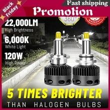 Bullvision H7 Led Headlights 22000lm 360 Degree Csp Chips Hid D1s D2s D3s D4s H1 H11 9005 9006 Hb3 Hb4 H8 H9 D2h Canbus 120w 12v