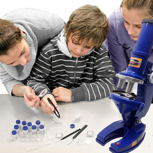 Simulation Microscope Kit Science Lab W/LED 100X-1200X Educational Toy For Kid стоимость