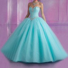 Vestidos longos quinceanera 2019 vestido de baile querida frisado cristais doce 16 vestido vestidos de 15 anos debutante vestido