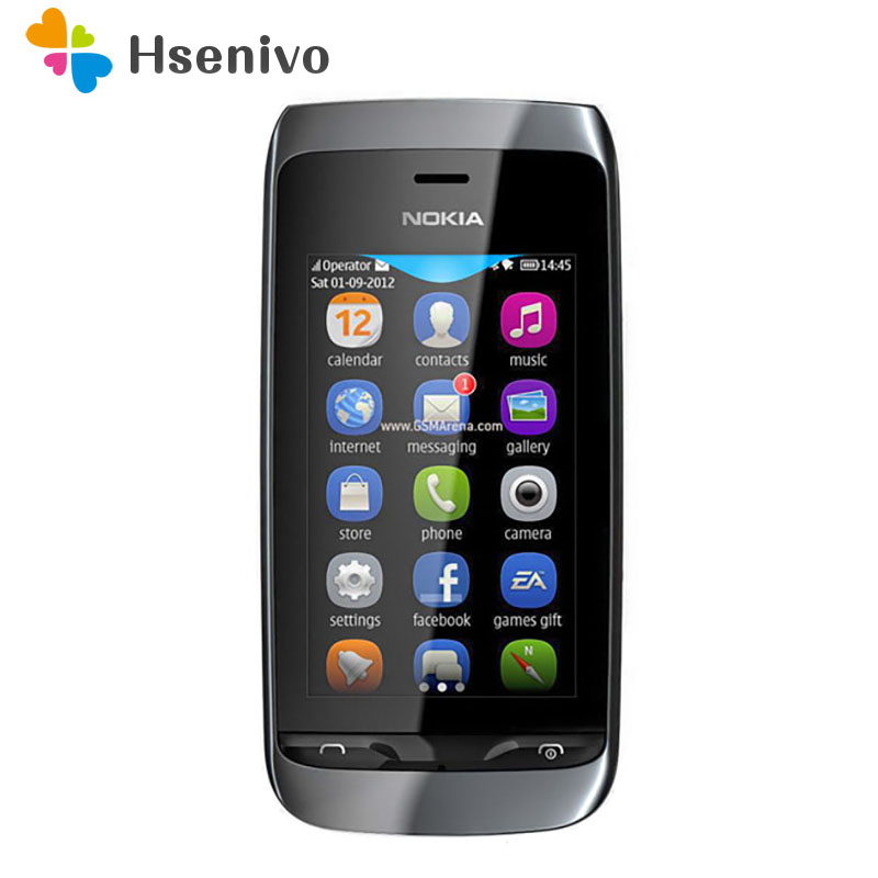 309 100% Original Unlocked Nokia Asha 309 Mobile Phone 3.0'Touch Screen WIFI Bluetooth Nokia Asha Charme 309 Phone Refurbished