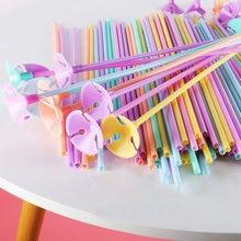 20 unids/lote 30cm colorido globo de látex de palos de barras para globos palos titular con Clip cumpleaños accesorios de decoración para fiestas