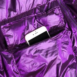 Image 5 - 冬厚い女性のジャケット綿が詰め暖かい女の子loose fit hoodedパーカー女性ビッグポケットコートショートスタイル不規則な裾