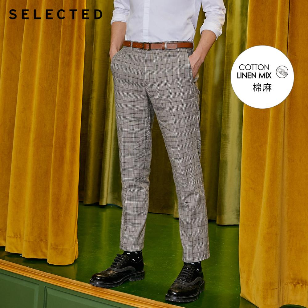SELECTED Cotton-blend Grey Slim Fit Suit Pants S|419218514