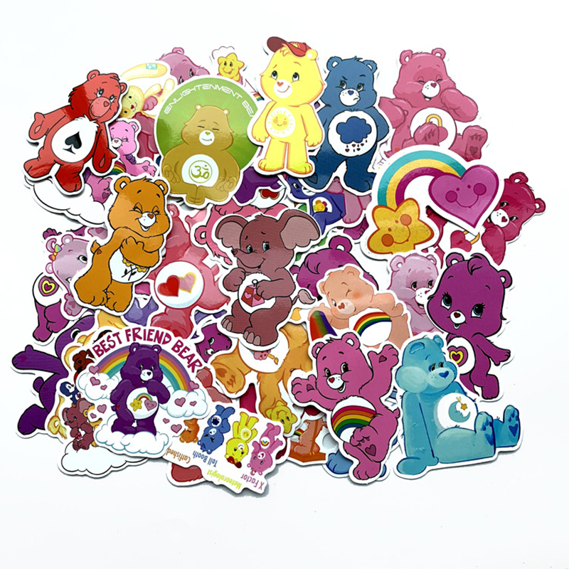 53pcs Cute Bear Not Repeat Waterproof Vinyl Stickers Pack For Personalize Laptop Kids Cars Motorcycle Bicycle Skateboard Sticker
