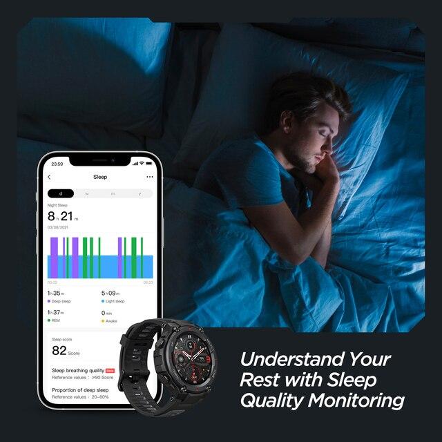 Novo amazfit t-rex trex pro t rex gps smartwatch ao ar livre à prova d18 água 18 dias de vida da bateria 390mah relógio inteligente para android ios telefone 2