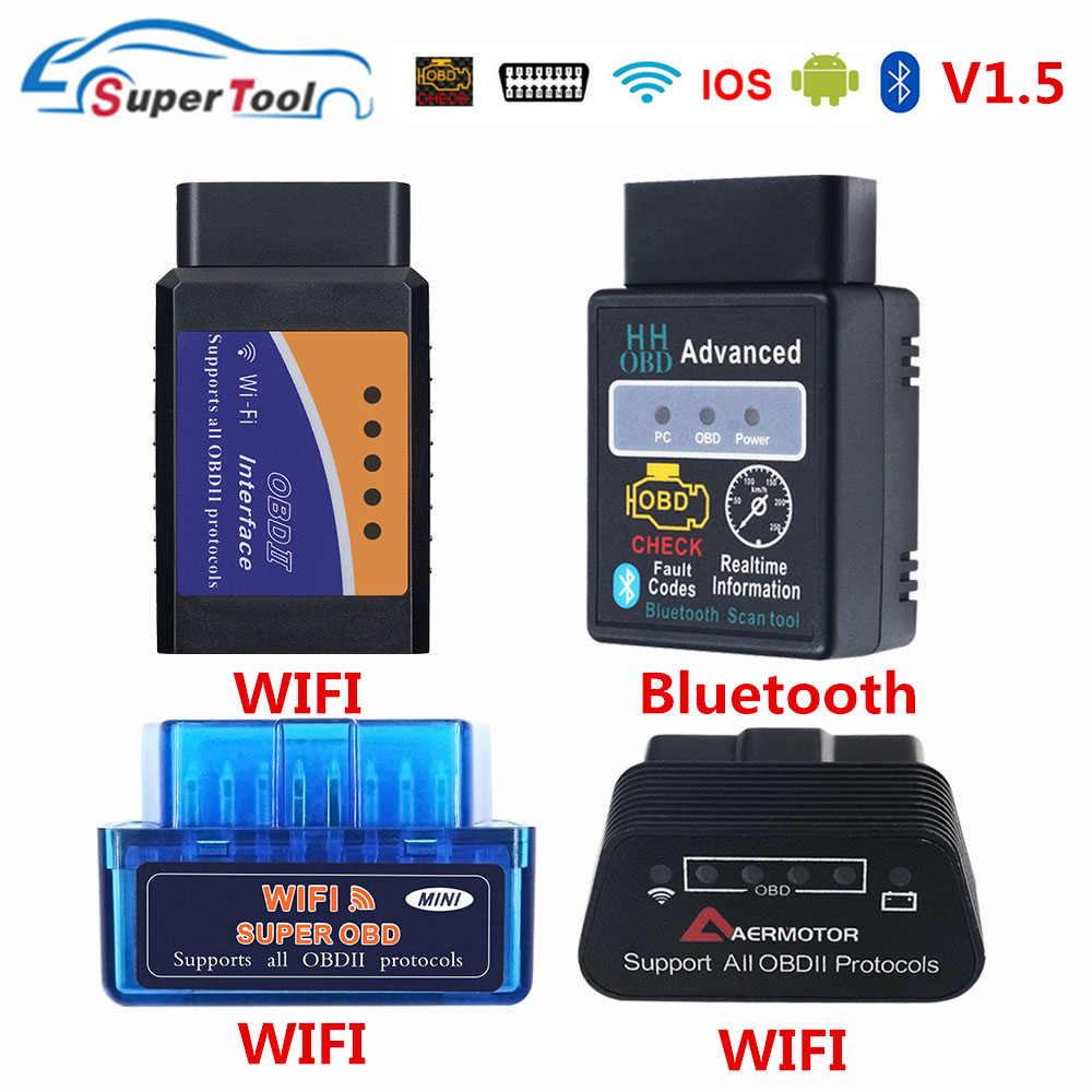 OBD2 自動スキャナー ELM327 bluetooth/wifi V1.5 obdii elm 327 bt/の wi-fi 1.5 hhobd hh obd ELM327 bluetooth v1.5/1.5 elm 327 スイッチ