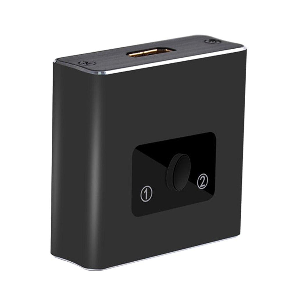 4K 3D 1 Input 2 Output DVD HDTV Portable Laptop Plug And Play 1080P Home HDMI Switch Bidirectional High Speed Aluminium Alloy