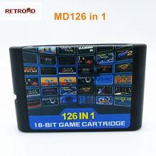 112 in1 & 126 em 1 cartucho de coleção de jogo quente para 16 bits sega megadrive genesis console de jogos de vídeo para pal e ntsc