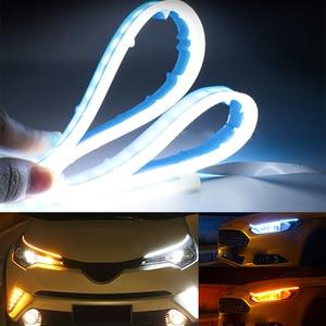 Image 3 - 2ชิ้น/ล็อตUltra Thin LED Daytime Running Light Soft Tube LED Stripสีสันน้ำท่องเที่ยวรถstrip 12V
