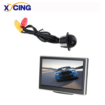 XYCING 5 Inch TFT LCD Color Car Monitor Auto Rear View Monitor + E318 Car Rear View Camera lcd monitor asus 21 5 vp228de