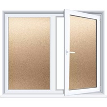 Gold Matte Glue-free Privacy Film Window Frosted Static Glass Sticker blackout Home Decorative For Bedroom Office Door