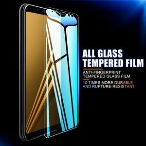 Image 3 - 3 قطعة الزجاج المقسى واقية لسامسونج غالاكسي A6 A8 J4 J6 زائد 2018 شاشة حامي الزجاج سامسونج A5 A7 A9 J2 J8 2018 الزجاج
