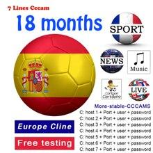 GTmedia-receptor de TV oscam europa HD, DVB-S2 líneas de España, compatible con GTmedia V8 Nova V7S V9 Freesat V7 Ccam, prueba