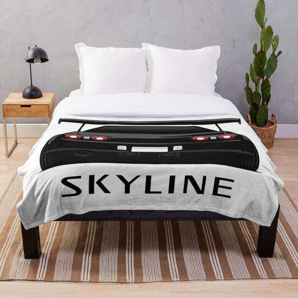 Nissan Skyline GT R R32 Throw Blanket Soft Sherpa Blanket Bed Sheet Single Knee Blanket Office Nap Blanket