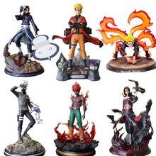 Naruto heykeli PVC rakamlar Kakashi Obito olabilir adam hitachi kyuubi Naruto Shippuden Anime heykelcik Uzumaki Naruto oyuncaklar