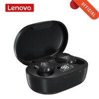 Lenovo-auriculares inalámbricos XT91, cascos deportivos con Bluetooth 5,0, botón táctil, caja de carga de 300mAh, indicador de batería LED