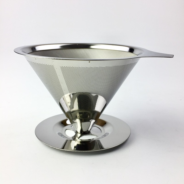 Reusable Coffee Filter Holder Stainless Steel Brew Drip Coffee Filters Funnel Metal Mesh Coffee Tea Filter Basket Tools 1