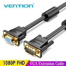 Vention Vga 延長ケーブル 1 メートル 1.5 メートル 2 メートル 3 メートル高品質男性女性ケーブルエクステンダー Vga ケーブルコンピュータプロジェクターモニター 5 メートル