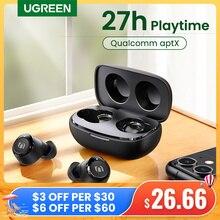 UGREEN TWS Wireless Bluetooth 5.0 Earphones Qualcomm aptX True Wireless Stereo Earbuds 27H Playtime USB C Charging