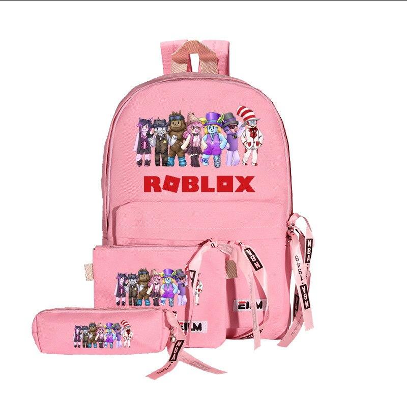 2021 New Teenager Pink 3pcs/set Waterproof Children School Bags Boy Girls Mochila Infantil Cute School Backpacks Kids Schoolbag