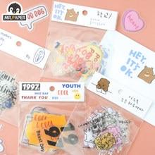 Mr.paper-pegatinas decorativas para álbumes de recortes, pegatinas decorativas con 4 diseños, 20 unids/lote,