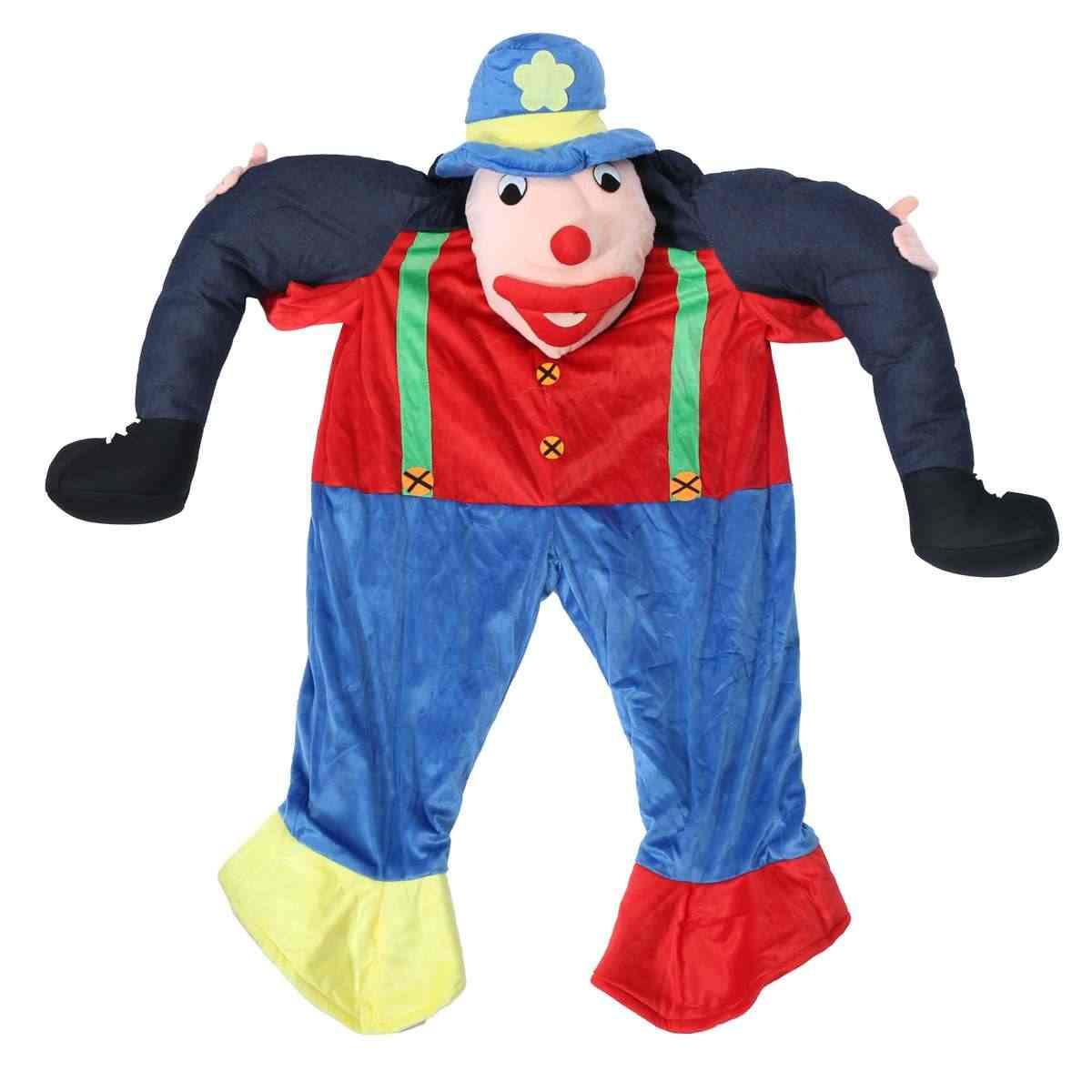 Oso de Halloween orangután cerdo relleno llevar de vuelta paseo en mascota de lujo vestido de fiesta traje de adulto para llevar pantalones
